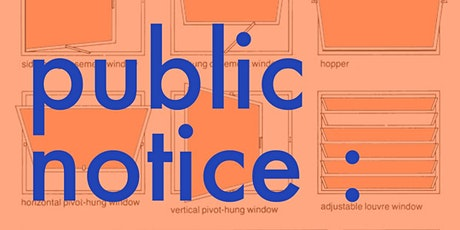 Private(public) View for public notice : an exhibition tickets