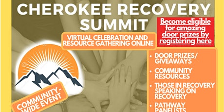 Cherokee Recovery Summit (Resource Gathering & Celebration of Recovery) tickets
