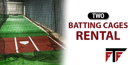 Two Batting Cages Rental tickets