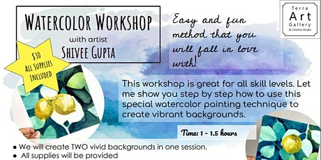 Watercolor Workshop - Layering Technique - No Experience Required tickets