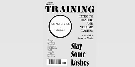 1 on 1 Eyelash Extension Training with Annaliza Marie tickets