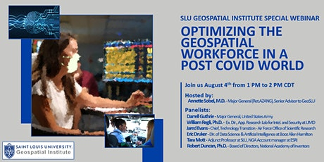 Webinar: Optimizing the geospatial workforce in a post COVID world tickets