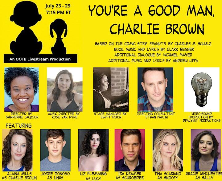 You're A Good Man Charlie Brown Live Virtual Play &Peanuts  Trivia PreParty image