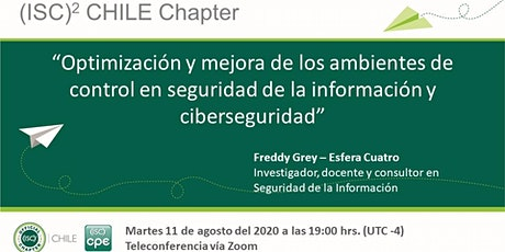 Charla (ISC)² Chile Chapter / Agosto 2020 entradas