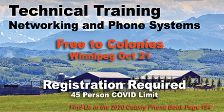 Hutterite VoIP Technical Training WINNIPEG - Free tickets