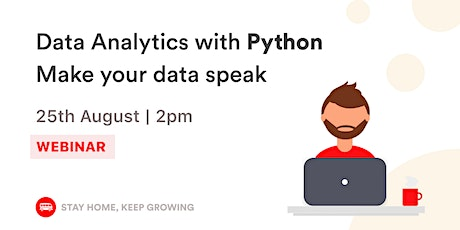 English Webinar - Data Analytics with Python | Le Wagon BH tickets