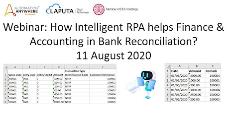 Webinar: How RPA helps Finance & Accounting in Bank Reconciliation? tickets