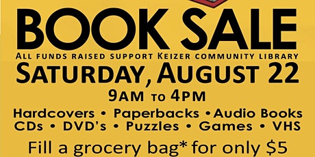 Book Sale in Support of Keizer Community Library tickets
