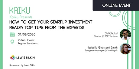 How to get your startup investment ready: top tips from the experts! tickets