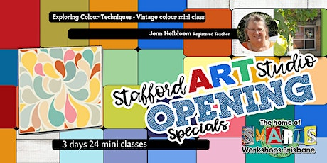 Stafford  Art Studio OPENING  SPECIAL - Mini Class - Vintage Colour tickets