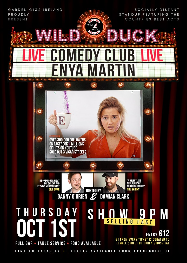 Wild Duck Comedy Club Presents: Giz a Laugh's Enya Martin & Guests! image