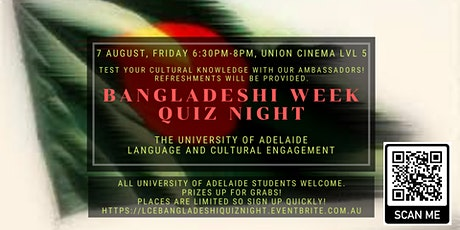 LCE Bangladeshi Quiz Night tickets