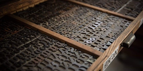 Letterpress printing workshop tickets