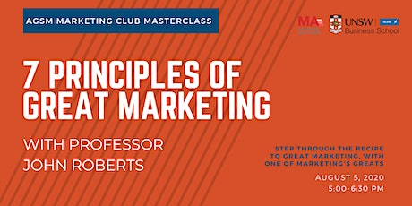 7 Principles of Great Marketing tickets