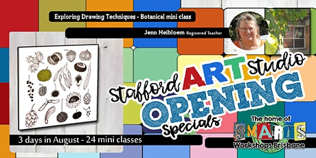 Stafford  Art Studio OPENING  SPECIAL - Mini Class - Easy Draw Botanical tickets
