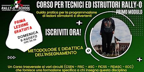 CORSO TECNICI ED ISTRUTTORI RALLY OBEDIENCE biglietti