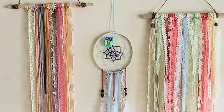 Boho wall hanging & dream catcher - COMBO Outdoor class/all ages tickets