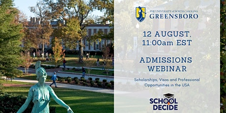 Study in the USA - Admissions Webinar with the University of North Carolina tickets