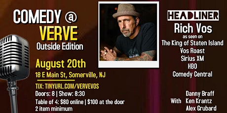 Comedy at Verve: Outside Edition with Rich Vos! tickets