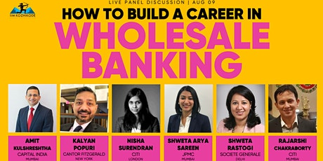 How to build a career in Wholesale Banking tickets