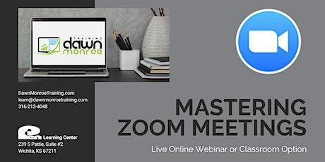 Mastering Zoom Meetings tickets