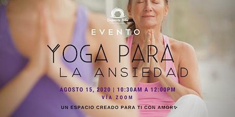 Taller Gratuito :  Yoga para la ansiedad entradas
