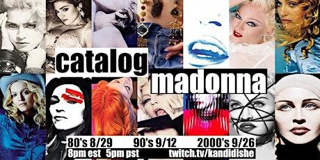 Catalog: Madonna tickets