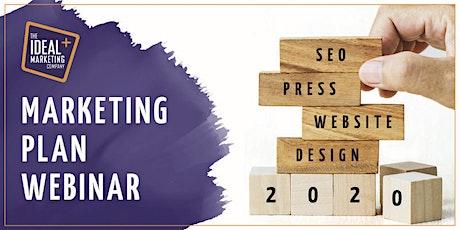 How to build a marketing plan - webinar tickets