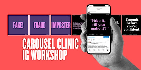 Carousel Clinic- How to make engaging Instagram content that gets attention tickets