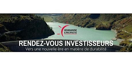 Romande Energie - RDV des investisseurs - Lausanne - 3 septembre 2020 billets