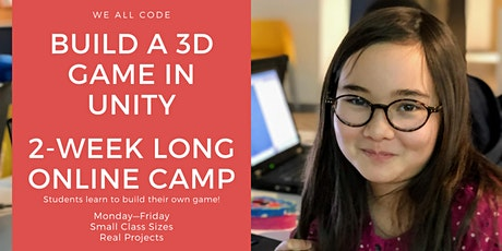 ONLINE CAMP: 3D Game development with Unity billets