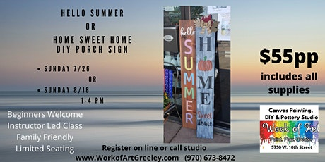 DIY Porch Sign - SUMMER or HOME tickets
