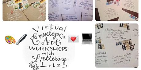 Virtual Envelope Calligraphy Workshop with Lettering By Liz tickets