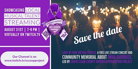 Virtual Community Memorial & Concert for Int:. Overdose Awareness Day tickets