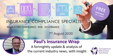 Paul's Insurance Wrap - analysis & insights of all current Insurance news tickets