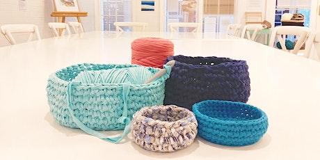 Chunky Crochet Basket Workshop tickets