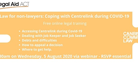 Law for Non-Lawyers: Coping with Centrelink during COVID tickets