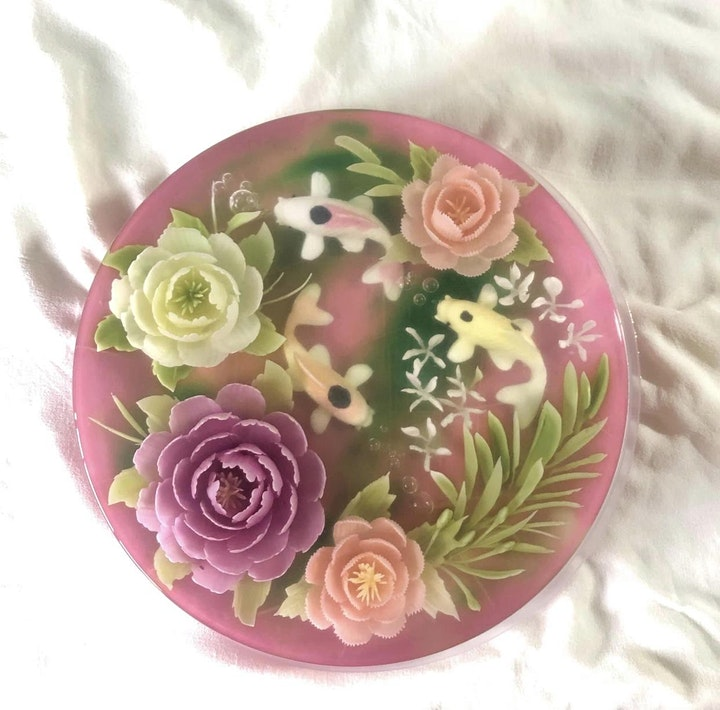 3D Jelly Art Floral - Koi & Bloom (Intermediate Level) image