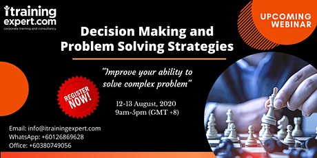Decision Making and Problem Solving Strategies tickets