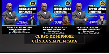 Curso de Hipnose Clínica Simplificada ingressos