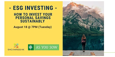 ESG & Impact Investing - How to Invest your Personal Savings Sustainably tickets