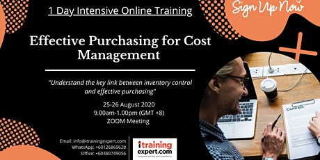 Effective Purchasing for Cost Management (1 Day Intensive) tickets
