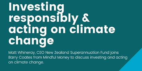 Investing responsibly & acting on climate change tickets