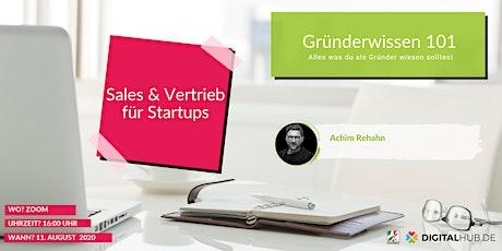 Gründerworkshop - Vertrieb & Sales Tickets