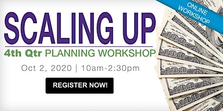 Q4 Scaling Up Planning Workshop: Generating Cash tickets