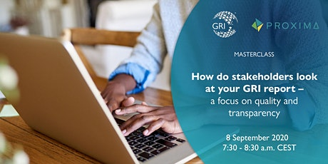Masterclass: How do stakeholders look at your GRI report (Oceania/Asia) tickets