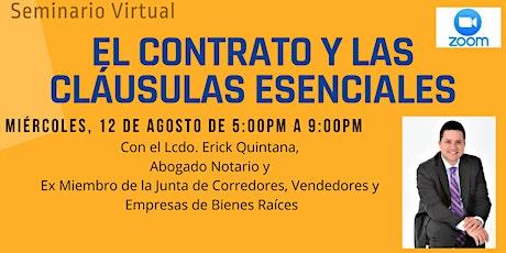 El Contrato y Las Cláusulas Esenciales, con LCDO Erick Quintana ingressos