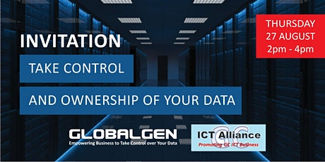 Globalgen & ICT Alliance - Take Control Over Your Data tickets