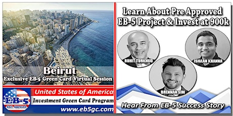 Beirut EB-5 American Green Card Virtual Market Series tickets