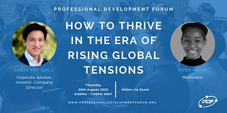 How to Thrive in the Era of Rising Global Tensions tickets